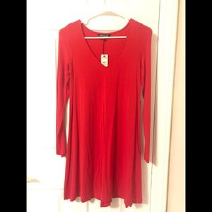Express Red Swing Dress